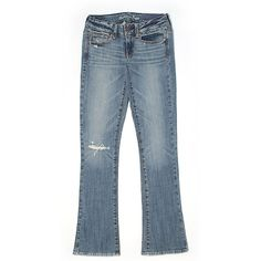 American Eagle Outfitters  Jeans ($19) ❤ liked on Polyvore featuring jeans, dark blue, american eagle outfitters, dark blue jeans, blue jeans and american eagle outfitters jeans