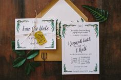 Rustic and Whimsical Garden Save The Date