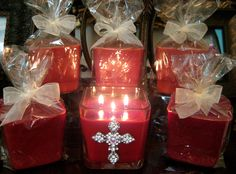 Highly scented refills.  Once you burn your candle down drop in a new refill made exclusively by Scent-Sational Candles. click www.facebook.com/SCCandles