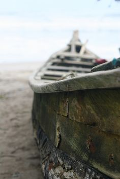 old fishing boat - Ghana