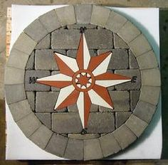 compass rose patio - Google Search