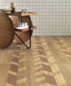 New Line Floor and Wall Tiles Design by Diego Grandi herringbone effect floor tile