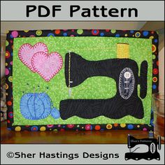 PDF Pattern for Antique Sewing Machine Mug Rug by ShersPatternShop,  This. On a birthday cake.