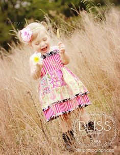 This dress pattern is a free one, designed by Dawn and graded by Whimsy Couture.   Sizes: 12 month through 12 girls.