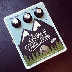 Guitar Pedals - Spring in Twin Peaks pedal by Effectivy Wonder. Spring reverb pedal. Guitar FX. Pedalporn. effectivywonder.com/