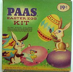 vintage easter egg dye kit package i uploaded this one for comparison My Childhood Memories, Great Memories, Vintage Easter, Vintage Holiday, Before I Forget, Baby Boomer, I Remember When, Vintage Toys, Vintage Avon