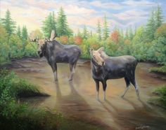 Tryst at Evenfell, © Brenda L. Kenney, Oil on Canvas, 24 x 30 A Moment To Remember, In This Moment, Bull Cow, Majestic Animals, Joy Of Life, Dusk, Wander, Oil On Canvas, Mystery