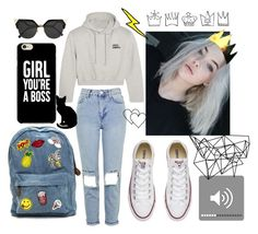 """""""Hoodie"""" by annecr0wley ❤ liked on Polyvore featuring Topshop, Vetements, Fendi, Converse and Color Me"""