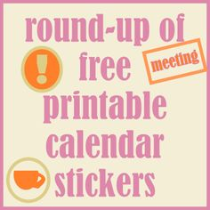 ☞ Round-up of free printable calendar reminder stickers - links | MeinLilaPark – DIY printables and downloads