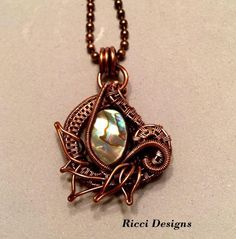 Abalone and Copper Pendant | JewelryLessons.com