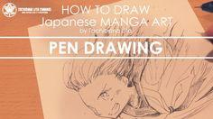 ✔ Pen Drawing  | How to draw Manga Art 2017.10.01