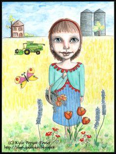 'Flower Harvest' - by Kylie Pepyat-Fowler  AKA: Blissful Pumpkin http://blissfulpumpkin.blogspot.com.au/