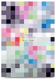 Always a sucker for pixels. Nice modern brochure design by Studio Thomson for Preen SS12 #design #fashion #marketing