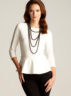 White Green Envelope #peplum #top #blouse $34