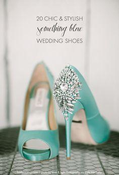 "Top 20 ""Something Blue"" Wedding Shoes   Bridal Musings Wedding Blog"