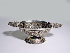 Antiek zilveren brandewijnkom Friesland