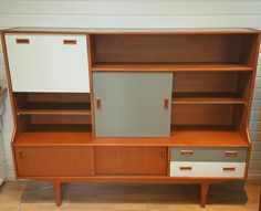Retro wall unit updated with Frenchic Lady Grey and Wolf Whistle accents