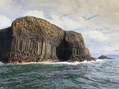 Looks imposing, no? The Isle of Staffa isn't quite hospitable—no inhabitants here since the 1700s—but it is home to some impressive geology, including Fingal's Cave, where hexagonal basalt columns (like the ones at Giant's Causeway) fill a cathedral-like sea cave. —L.D.R.