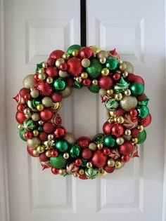Ornament wreath (one of the few crafts I excel at).