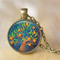 TREE OF LIFE  Necklace Glass Pendant Tree of by LiteraryArtPrints #jewerly #necklaces