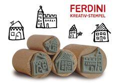 Häuser+und+Festung+·+4+Stempel+von+FERDINI+auf+DaWanda.com