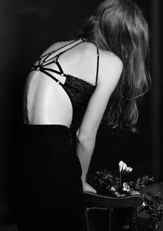 Photo: Danielle Grace   Styling: Jenai Dominique   Publication: DEW Magazine -- Portrait - Lingerie - Black and White  Photography