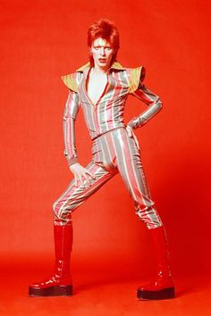 10 Things You Didn't Know About David Bowie #refinery29  http://www.refinery29.com/2014/09/74539/david-bowie-mca-chicago-exhibit-opening-facts#slide-8  Despite his love of outsider culture, Bowie only has one tattoo (that we know of): a man riding a dolphin with a personal Kanji inscription of the Serenity prayer. Done in 1991, the tattoo is located on his left calf, and Bowie designed it himself.  ...