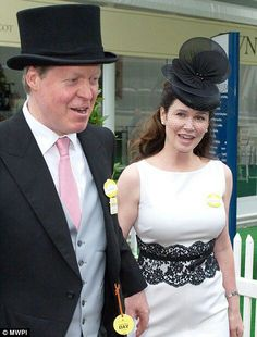 Earl and Countess Spencer. (the older he gets the more he looks like his father!)