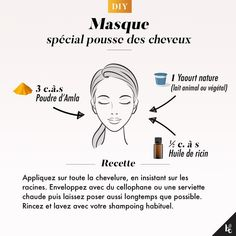 DIY : Masque spécial pousse des cheveux After a jump to the hairdresser, you finally regret having sacrificed your lengths? Natural Hair Ponytail, Natural Hair Mask, Long Natural Hair, Natural Hair Styles, Beauty Care, Diy Beauty, Beauty Hacks, Beauty Tips, Natural Hair Transitioning
