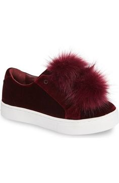 Sam Edelman 'Leya' Faux Fur Laceless Sneaker (Women) available at #Nordstrom
