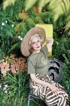 Julie Newmar shot by Ye Rin Mok for Wilder Quarterly fall 2012