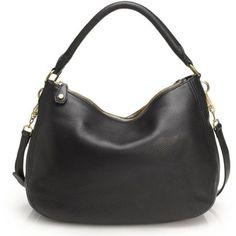 cbab12190 J. Crew Black Leather Biennial Hobo Bag Calzas, Zapatillas, Carteras,  Accesorios,