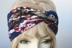 Veyr cute flower  print twisted   Headband great accessory for your outfit