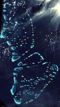 Cool satellite photo of the Maldives from space