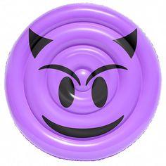 Have a devilishly delightful time floating on this Sportsstuff Emoji Devil Happy/Sad Pool Float. Purple Emoji, Lake Party, Cool Emoji, Emoji Design, Pool Lounge, Safety Valve, Inflatable Boat, Pool Floats, Pool Toys