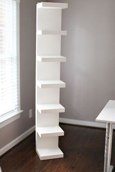 DIY quick and easy shelf furniture makeover painted with an hvlp paint sprayer from HomeRight.