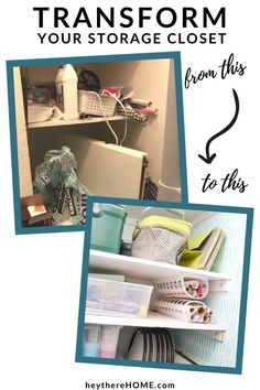 See how to create space and order in an under stairs closet. This 3 step process rocks it! #understairsclosetstorage #understairsclosetideas #understairsclosetorganization Deep Shelves, Large Shelves, Tiny Closet, Small Closets, Closet Bedroom, Master Closet, Closet Storage, Closet Organization, Closet Under Stairs