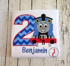 Thomas The Train Birthday Shirt Boys Birthday by jcoolcreations