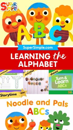 'Noodle & Pals Storytime ABCs' is an animated storybook that's easy to follow for preschoolers. With a gentle voiceover narration to guide them through, kids will be learning their alphabet in no time! Learning The Alphabet, Learning Games, Transition Songs, Turtle Crafts, Classroom Management Strategies, Simple App, Kids Story Books, Classroom Inspiration, Craft Activities For Kids