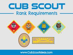 Find all of the Cub Scout rank and adventure requirements here! Discover fun activities that can be used to complete those requirements.