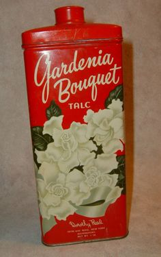 Vintage talc tins. This was a staple in the Bruner Home. What a blast from the past!