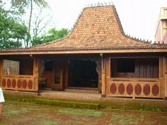 Ideas With Little Money: Low Cost Decoration Indonesian House, Dream Home Design, House Design, Low Budget Decorating, Gazebo Pergola, House Names, Village Houses, Architectural Features, Wooden House