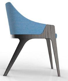 """Calia"" chair designed by Brad Ascalon for Gunlocke Furniture Logo, Furniture Upholstery, Design Furniture, Chair Design, Cool Furniture, Upholstery Repair, Dinning Chairs, Cool Chairs, Furniture Inspiration"