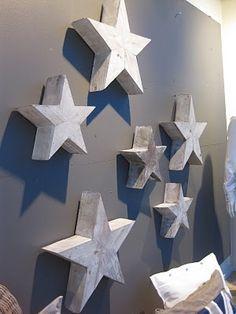 Houten sterren