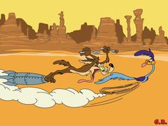 Wile E. Coyote and Road Runner by GabeRios.deviantart.com on @deviantART