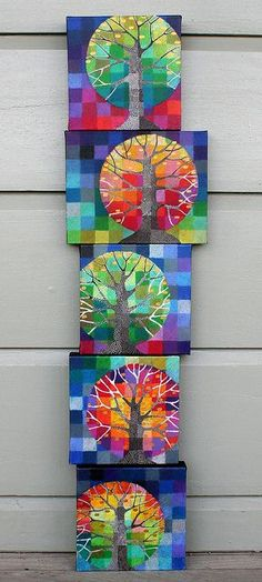 little trees growing by rettgrayson, via Flickr.  I need to adapt this for my students with special needs.  Love the colors and shapes.