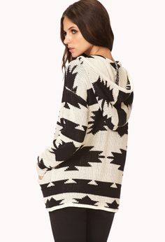 Desert Night Hooded Sweater | FOREVER21 - 2000129314