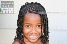 Sunburst Flat Rope Twist Bangs with Box Two-Strand Twists #NaturalHair #Hairstyle | Chocolate Hair / Vanilla Care