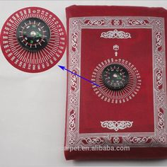 Portable Muslim Pocket Prayer Mat Rug with Compass Mixed Colors