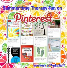 Pinterest Pinboard of the Week: Summertime and End of the Year Therapy Fun  - Pinned by @PediaStaff – Please Visit ht.ly/63sNtfor all our pediatric therapy pins